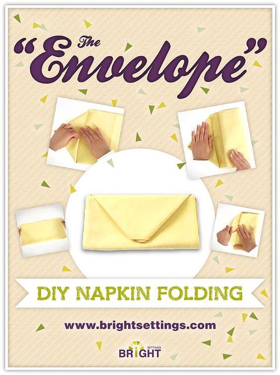 table napkin folding instructions