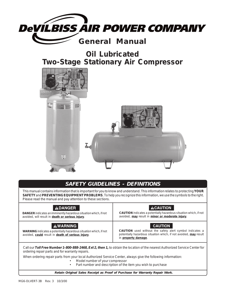 air compressor instruction manual