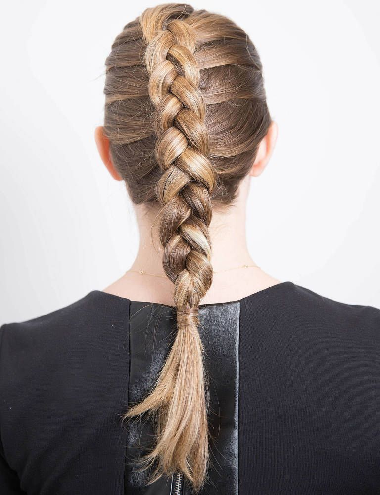 waterfall french braid instructions