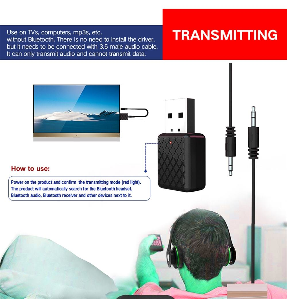 bluetooth stereo transmitter instructions