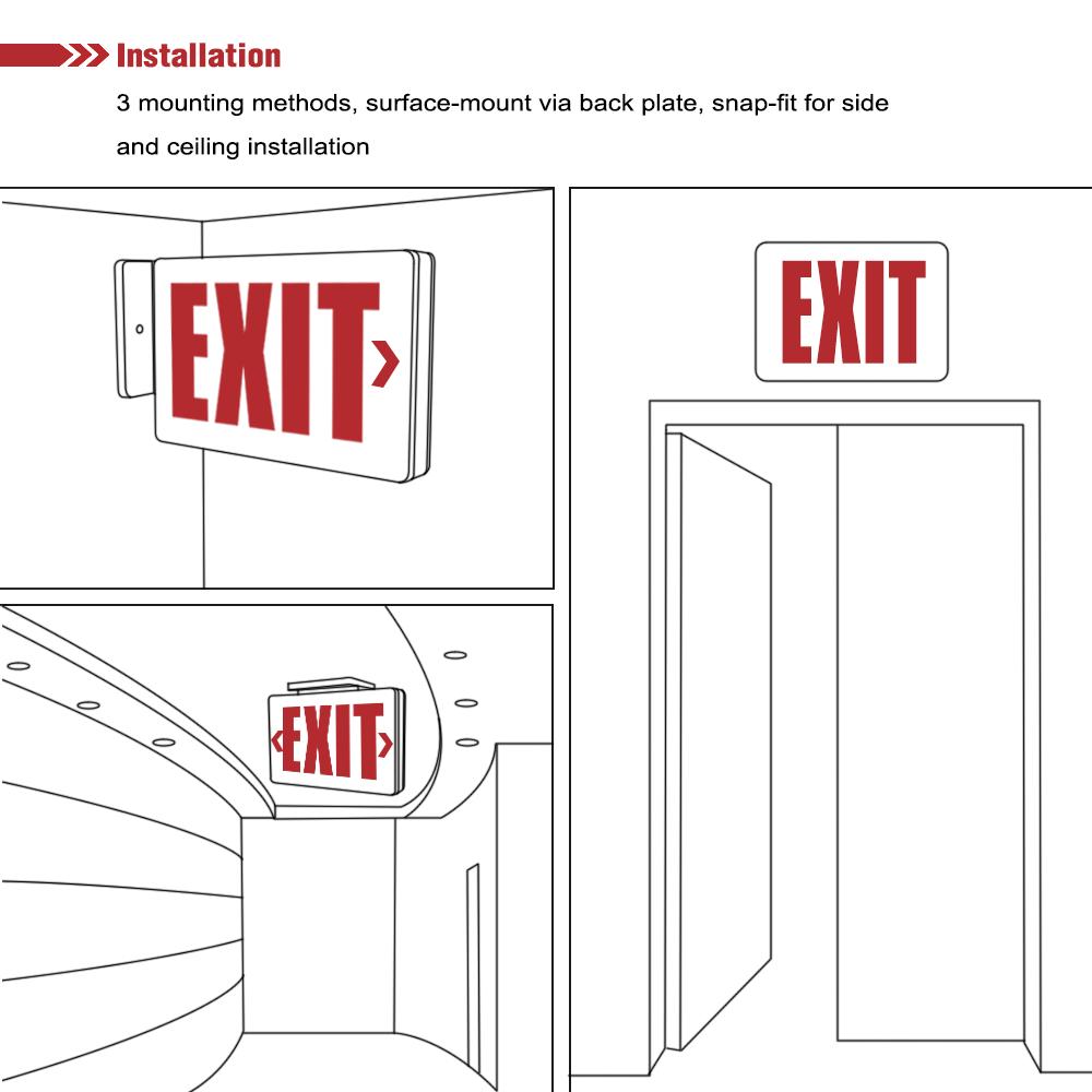 emergency lighting wiring instructions