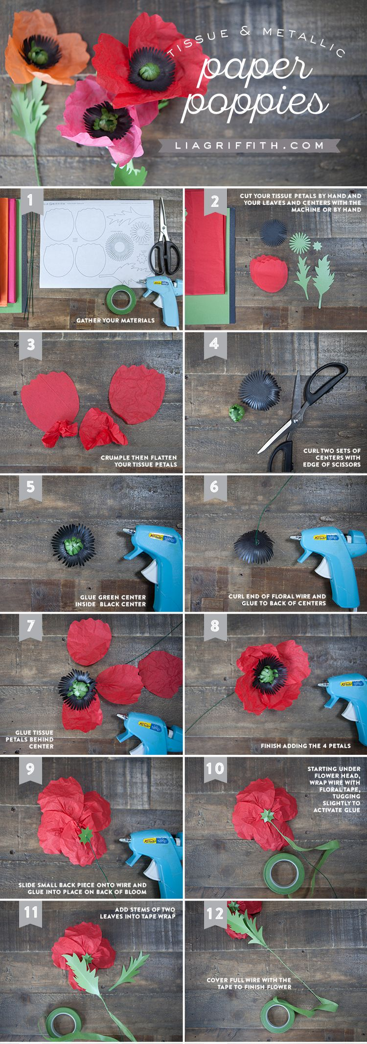 crepe paper flowers instructions