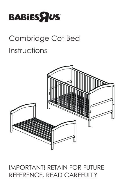 childcare cambridge cot instructions