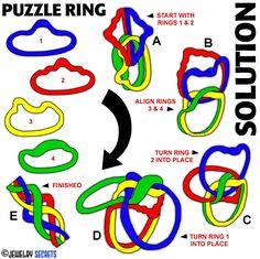 8 band puzzle ring assembly instructions