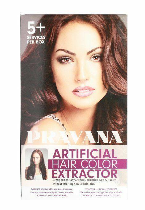 pravana artificial hair color extractor instructions