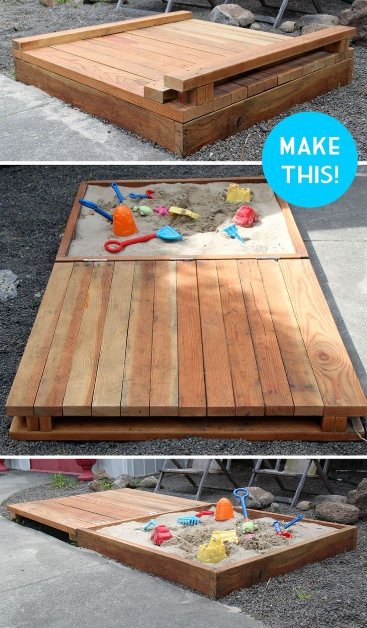 diy pallet sandbox instructions