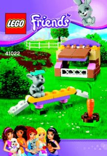 lego friends bunny hutch instructions