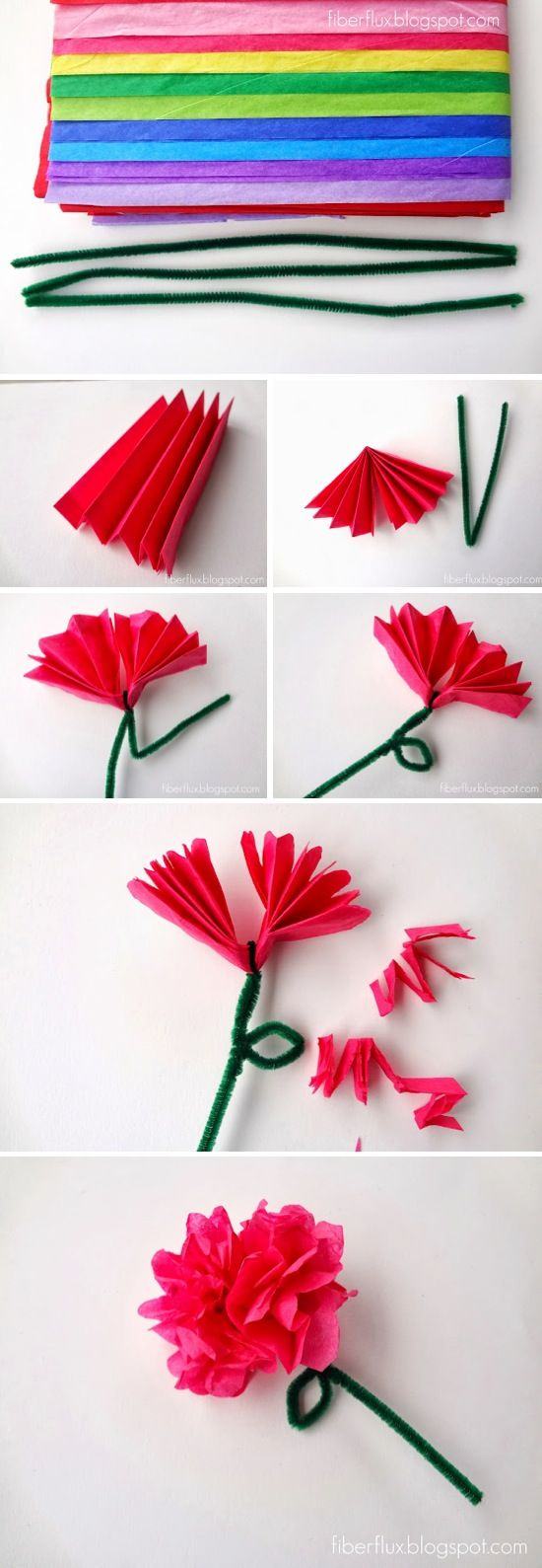 crepe paper flower making instructions