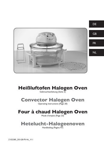 aldi halogen oven instructions