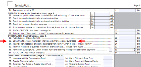 california sales tax return instructions