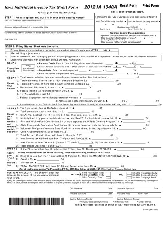 individual tax return instructions 2012 pdf