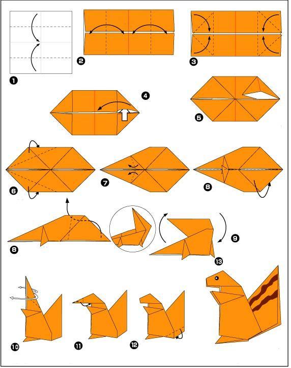 origami flying bird instructions