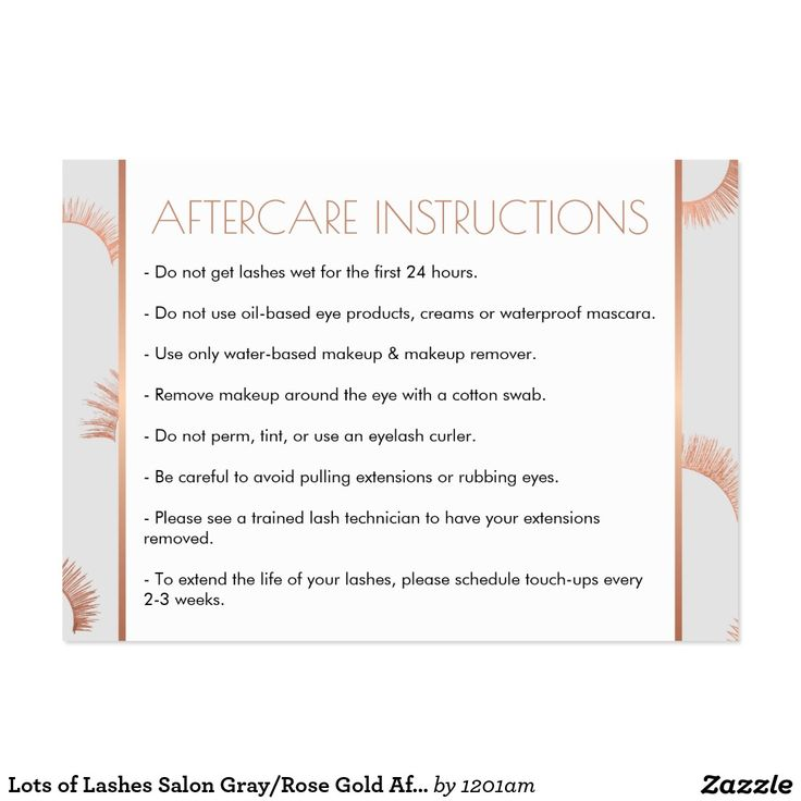 eyelash extension care instructions