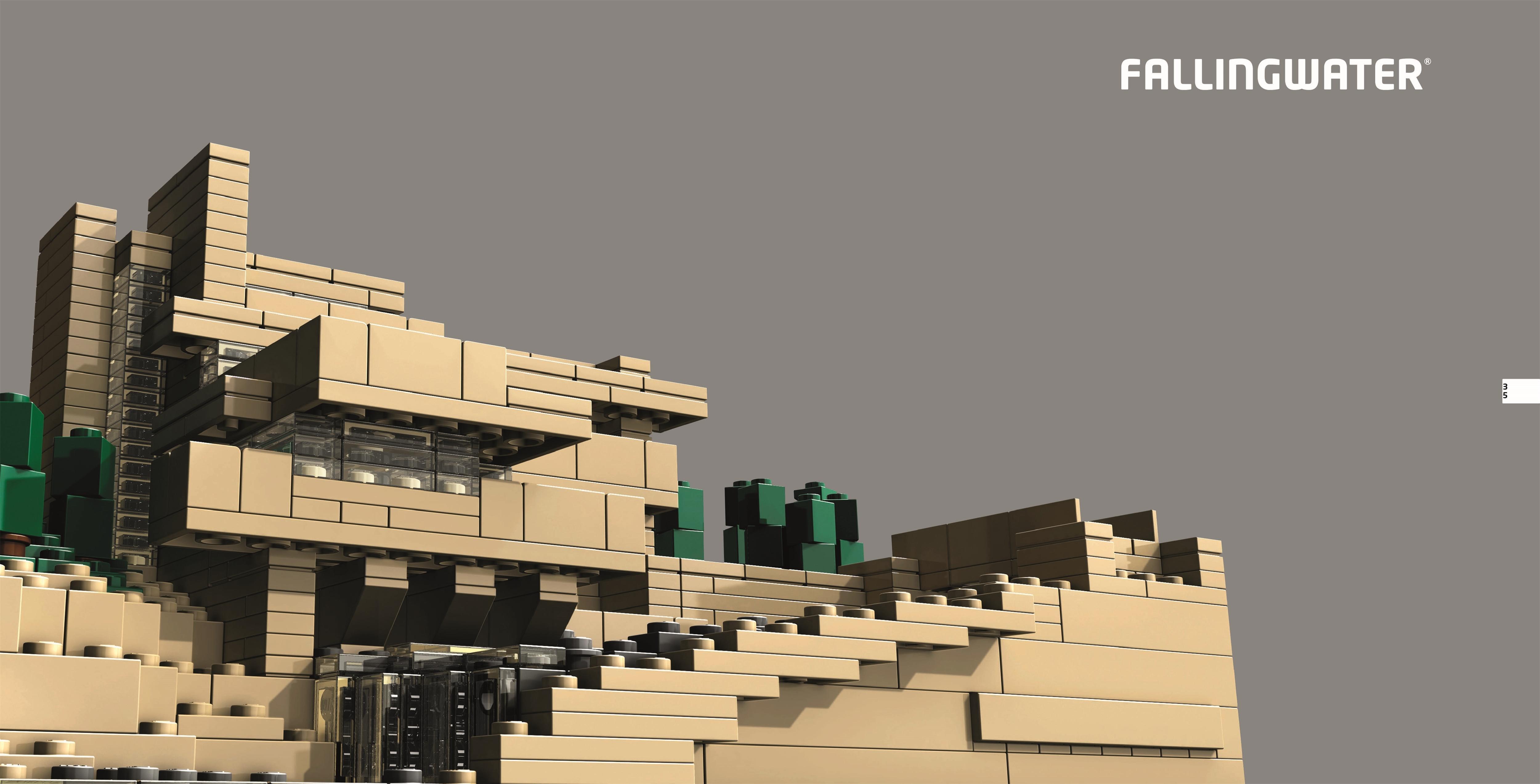 lego architecture fallingwater instructions