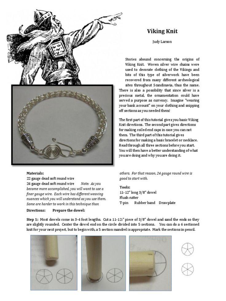 viking knit jewelry instructions